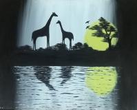 Sisilia-Thomas-Giraffe-at-the-Sunset