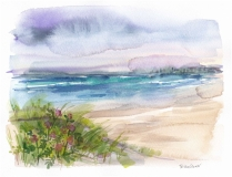 Trisha-Shaw-Seascape-With-Lavender-Sky